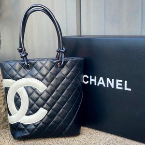CHANEL Pre-Owned Cambon Quilted CC Tote Bag